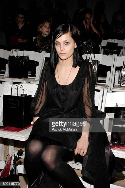 Leigh Lezark attends ERIN FETHERSTON Fall 2008 Collection Show at The Promenade on February 1 2008 in New York City