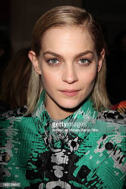 Leigh Lezark attends Jean-Charles De Castelbajac Fall/Winter 2013 Ready-to-Wear show as part of Paris Fashion Week on March 5, 2013 in Paris, France.