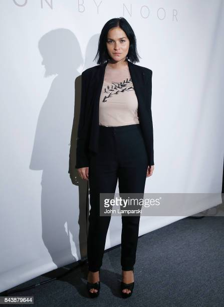 Leigh Lezark attends Noon By Noor September 2017 New York Fashion Week The Shows at Gallery 3 Skylight Clarkson Sq on September 7 2017 in New York...