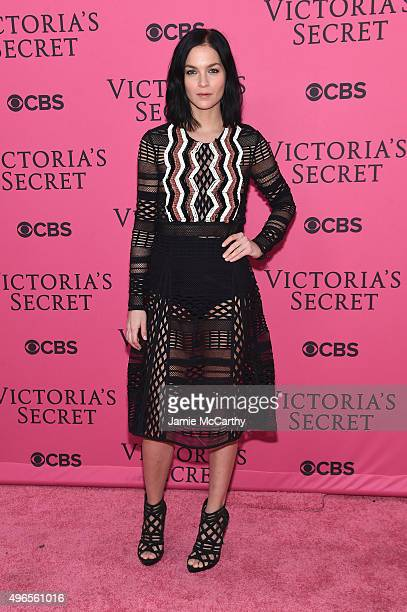 DJ Leigh Lezark attends the 2015 Victoria's Secret Fashion Show at Lexington Avenue Armory on November 10 2015 in New York City