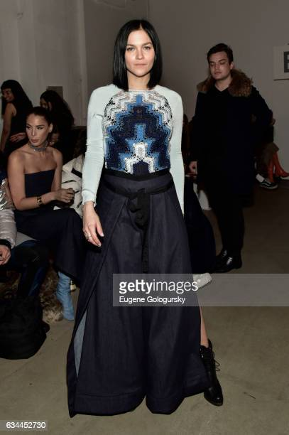 Leigh Lezark attends the Adam Selman show during February 2017 New York Fashion Week Presented By MADE at Gallery 2 Skylight Clarkson Sq on February...