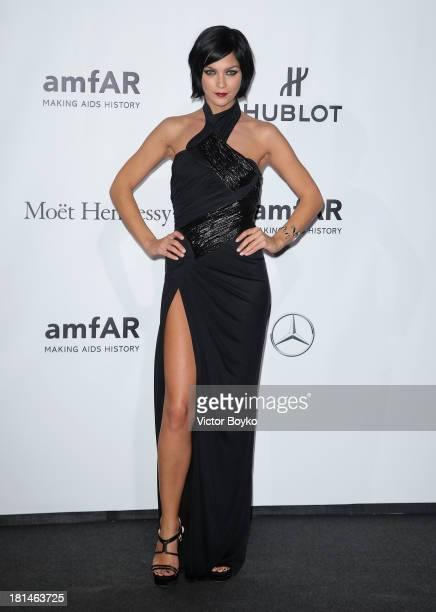 Leigh Lezark attends the amfAR Milano 2013 Gala as part of Milan Fashion Week Womenswear Spring/Summer 2014 at La Permanente on September 21 2013 in...