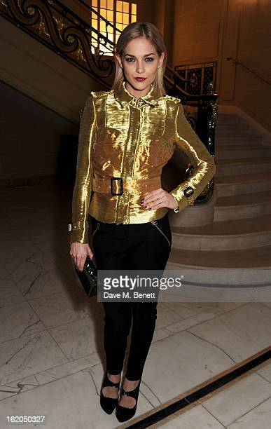 Leigh Lezark attends the AnOther Magazine and Dazed Confused party with Belvedere Vodka at the Cafe Royal hotel on February 18 2013 in London England