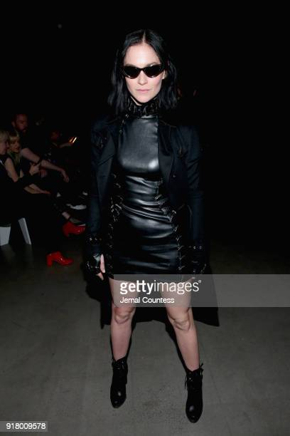 Leigh Lezark attends The Blonds front row during New York Fashion Week The Shows at Gallery I at Spring Studios on February 13 2018 in New York City