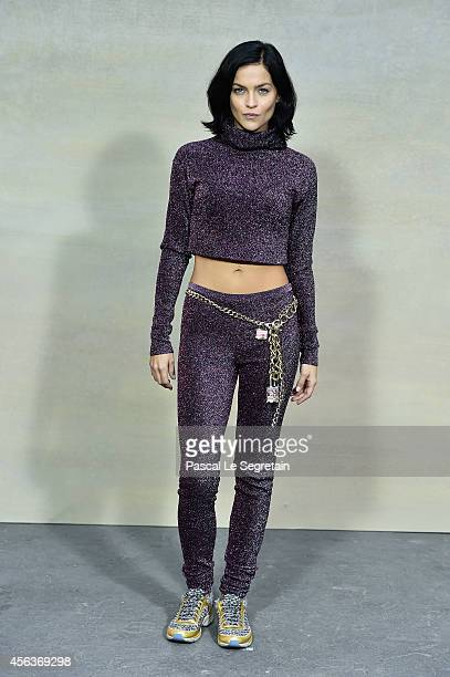 Leigh Lezark attends the Chanel show as part of the Paris Fashion Week Womenswear Spring/Summer 2015 on September 30 2014 in Paris France