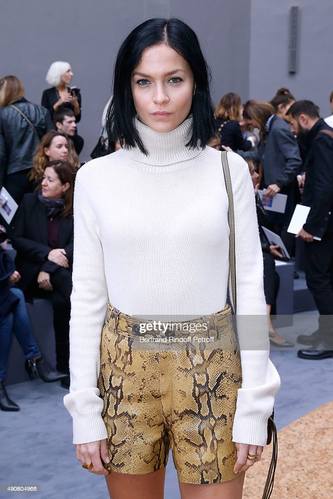 Leigh Lezark attends the Chloe show as part of the Paris Fashion Week Womenswear Spring/Summer 2016. Held at Grand Palais on October 1, 2015 in Paris, France.