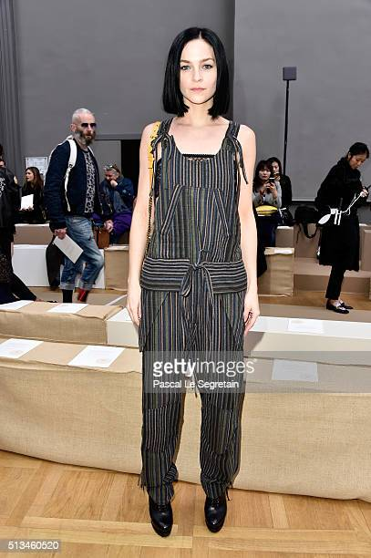 Leigh Lezark attends the Chloe show as part of the Paris Fashion Week Womenswear Fall/Winter 2016/2017 on March 3 2016 in Paris France