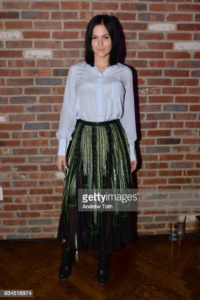 Leigh Lezark attends The Daily Front Row x LIFEWTR New York Fashion Week opening night at Kola House on February 9 2017 in New York City