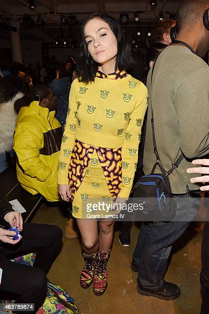 Leigh Lezark attends the Jeremy Scott show during MADE Fashion Week Fall 2015 at Milk Studios on February 18 2015 in New York City