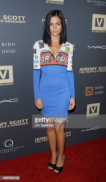 Leigh Lezark attends the 'Jeremy Scott The People's Designer' New York premiere at The Paris Theatre on September 15 2015 in New York City