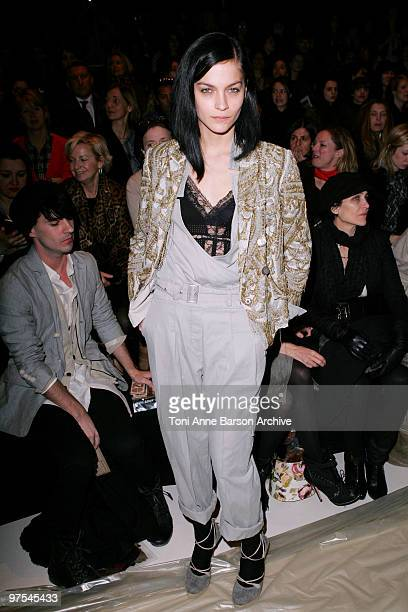 Leigh Lezark attends the Kenzo Ready to Wear show as part of the Paris Womenswear Fashion Week Fall/Winter 2011 at Espace Ephemere Tuileries on March...