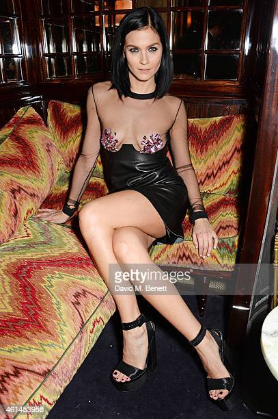 Leigh Lezark attends the launch of Tom Ford's new fragrance 'Noir Extreme' at The Chiltern Firehouse on January 12 2015 in London England