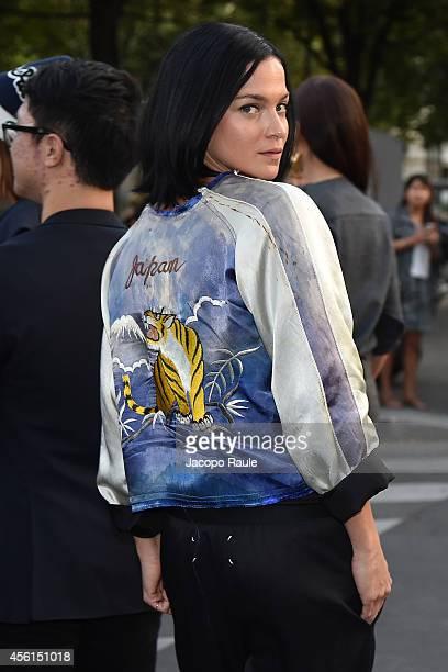 Leigh Lezark Attends the Maison Martin Margiela show as part of the Paris Fashion Week Womenswear Spring/Summer 2015 on September 26 2014 in Paris...
