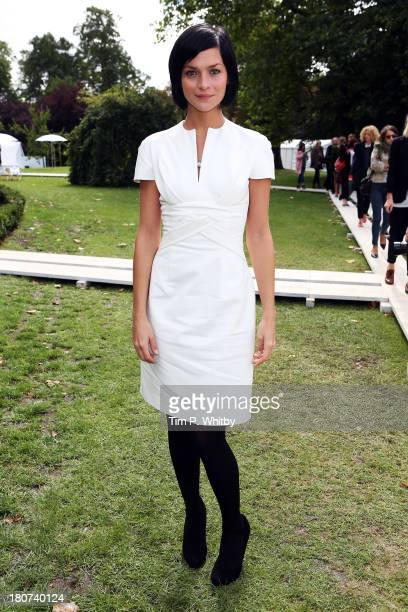 Leigh Lezark attends the Marios Schwab show during London Fashion Week SS14 at TopShop Show Space on September 16 2013 in London England