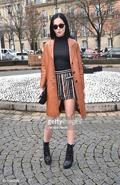 Leigh Lezark attends the Miu Miu show as part of the Paris Fashion Week Womenswear Fall Winter 2016/2017 on March 9 2016 in Paris France