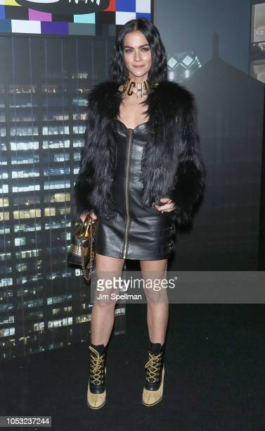 Leigh Lezark attends the Moschino x HM show at Pier 36 on October 24 2018 in New York City
