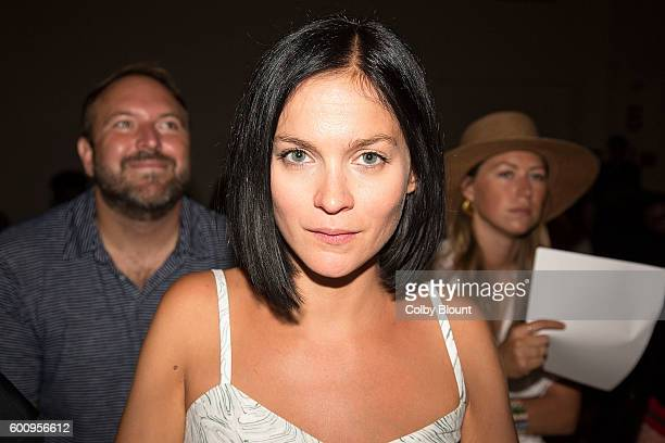 Leigh Lezark attends the Noon By Noor fashion show during New York Fashion Week The Gallery Skylight at Clarkson Sq on September 8 2016 in New York...