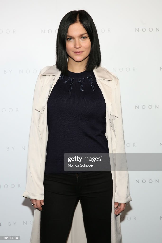 DJ Leigh Lezark attends the Noon by Noor fashion show during, New York Fashion Week: The Shows at Gallery 3, Skylight Clarkson Sq on February 9, 2017 in New York City.