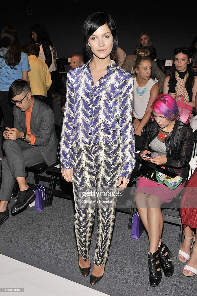Leigh Lezark attends the Noon By Noor Spring 2014 fashion show during Mercedes-Benz Fashion Week at The Studio at Lincoln Center on September 6, 2013 in New York City.