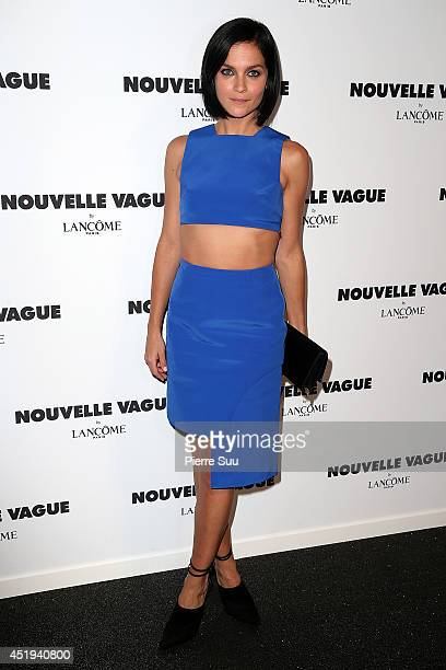 Leigh Lezark attends the 'Nouvelle Vague by Lancome' party as part of Paris Fashion Week Haute Couture Fall/Winter 20142015 at Palais Brongniart on...