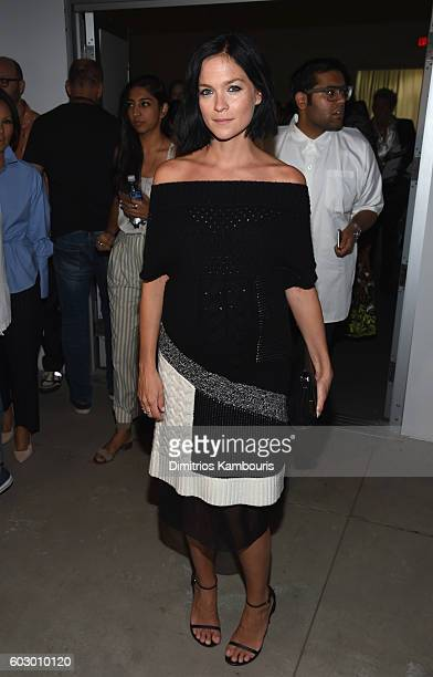 Leigh Lezark attends the Prabal Gurung fashion show during New York Fashion Week The Shows September 2016 at The Gallery Skylight at Clarkson Sq on...