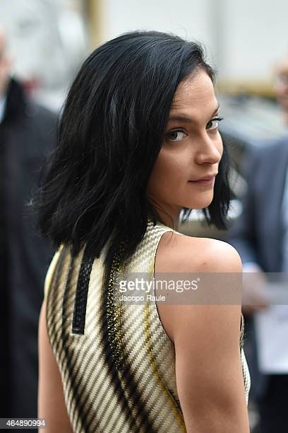 Leigh Lezark attends the Salvatore Ferragamo show during the Milan Fashion Week Autumn/Winter 2015 on March 1 2015 in Milan Italy