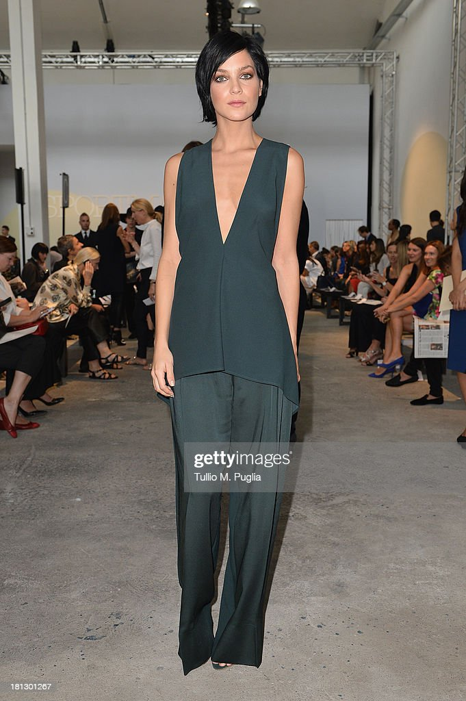 Leigh Lezark attends the Sportmax show as a part of Milan Fashion Week Womenswear Spring/Summer 2014 on September 20, 2013 in Milan, Italy.