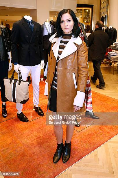 Leigh Lezark attends the Tommy Hilfiger Boutique Opening at Boulevard Capucines on March 31 2015 in Paris France