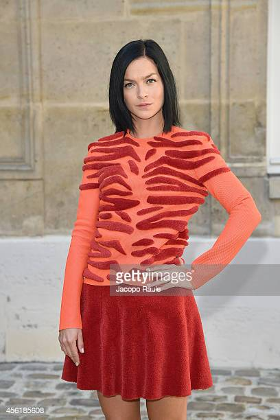 Leigh Lezark Attends the Viktor Rolf show as part of the Paris Fashion Week Womenswear Spring/Summer 2015 on September 27 2014 in Paris France