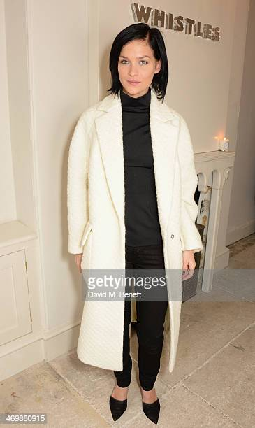 Leigh Lezark attends the Whistles presentation at London Fashion Week AW14 at 33 Fitzroy Place on February 17 2014 in London England