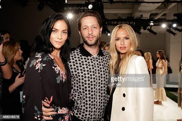 Leigh Lezark Derek Blasberg and designer Rachel Zoe attend the Rachel Zoe Spring 2016 presentation during New York Fashion Week The Shows at The...