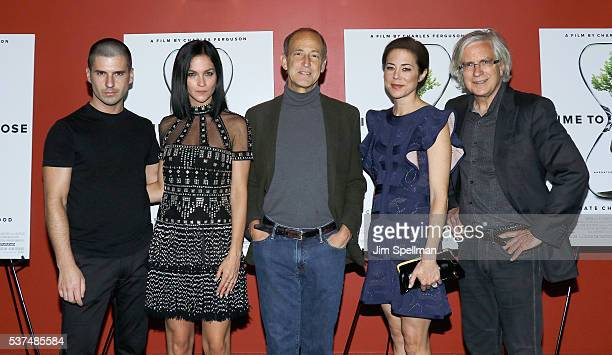 Leigh Lezark Geordon Nicol director Charles Ferguson producers Audrey Marrs and Tom Dinwoodie attend the 'Time To Choose' New York screening at...