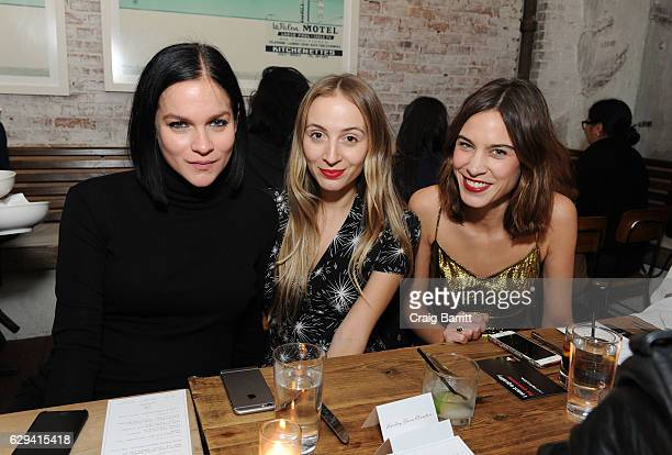 Leigh Lezark Harley VieraNewton and Alexa Chung attend a holiday dinner in support of the UN Women's Global Movement For Gender Equality HeForShe...
