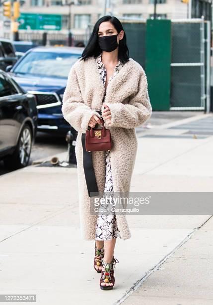 Leigh Lezark is seen arriving to Jason Wu - September 2020 during New York Fashion Week at Spring Studios on September 13, 2020 in New York City.