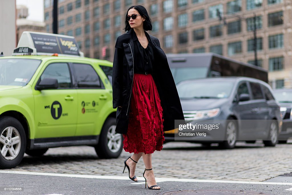 Street Style - Day 7 - New York Fashion Week: Women's Fall/Winter 2016 : Photo d'actualité