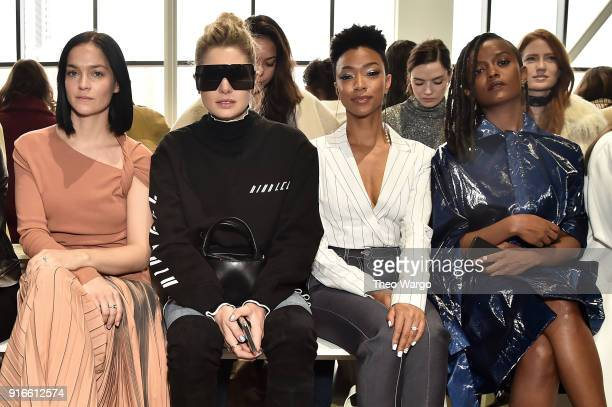 Leigh Lezark Jessica Hart Sonequa MartinGreen and Kelela attend the Dion Lee fashion show during New York Fashion Week The Shows at Gallery I at...