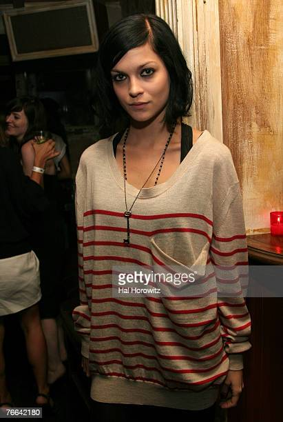 Leigh Lezark of The MisShapes attend the Dazed Confused Party at The Box during MercedesBenz Fashion Week Spring 2008 on September 9 2007 in New York...