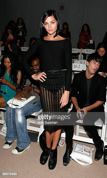 Leigh Lezark of The MisShapes attends the Davidelfin Spring 2010 Fashion Show at the Promanade during MercedesBenz Fashion Week at Bryant Park on...