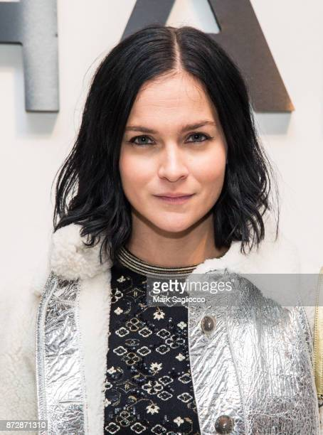 Leigh Lezark of the Misshapes wearing CHANEL attends the CHANEL celebration of the launch of The Coco Club at The Wing Soho on November 10 2017 in...