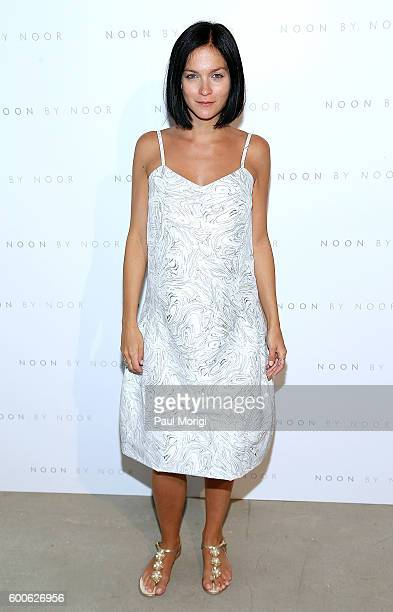 Leigh Lezark poses for a photo backstage at the Noon By Noor fashion show during New York Fashion Week The Shows September 2016 at The Gallery...