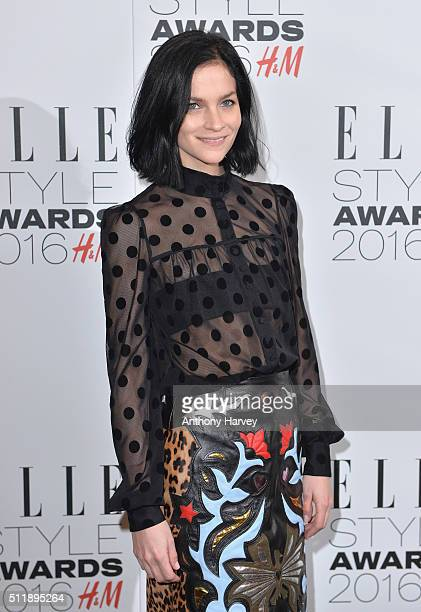 Leigh Lezark poses in the winners room at The Elle Style Awards 2016 on February 23 2016 in London England