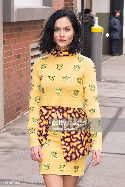 Leigh Lezark seen arriving for the Jeremy Scott fashion show during MADE Fashion Week at MILK Studios on February 18 2015 in New York City