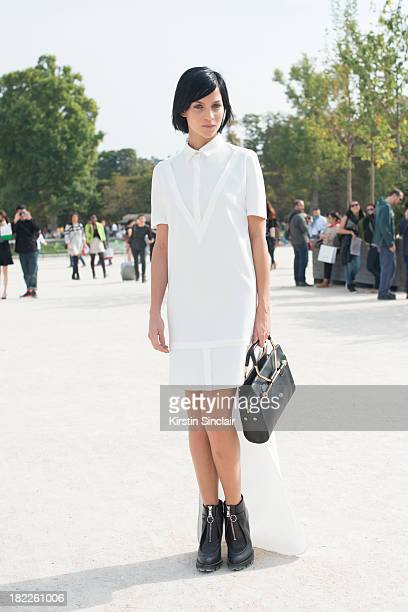 Leigh Lezark wears Viktor and Rolf on day 5 of Paris Fashion Week Spring/Summer 2014 Paris September 28 2013 in Paris France