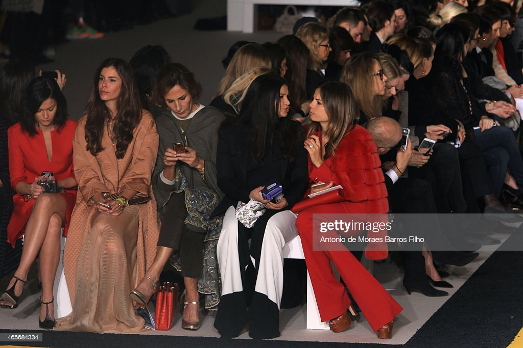 Leigh Lezark;Christina Pitanguy attend the Giambattista Valli show as part of the Paris Fashion Week Womenswear Fall/Winter 2015/2016 on March 9, 2015 in Paris, France.