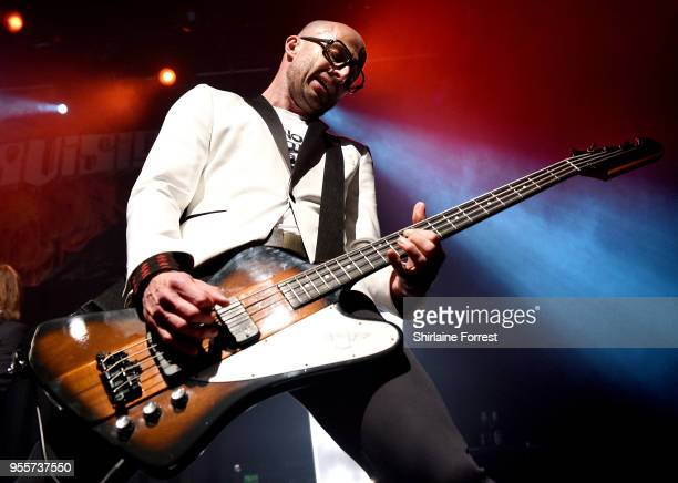Leigh Marklew of Terrorvision performs live on stage at O2 Academy Manchester on May 4 2018 in Manchester England