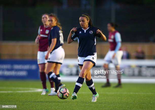 Leigh Nicol of Millwall Lionesses L during FA Women's Super League 2 match between Millwall Lionesses and Aston Villa Ladies FC at St Paul's Sports...