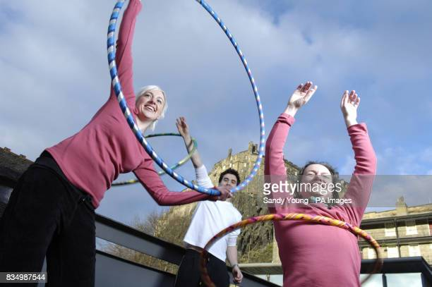 Leigh RobiesonCleaver Matt Roe and teacher Fiona Blair from Edinburgh's Dance Base host a hulahooping class to celebrate the 1billion of Lottery...