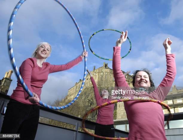 Leigh RobiesonCleaver Mikaela MacIntyre and teacher Fiona Blair from Edinburgh's Dance Base host a hulahooping class to celebrate the 1billion of...