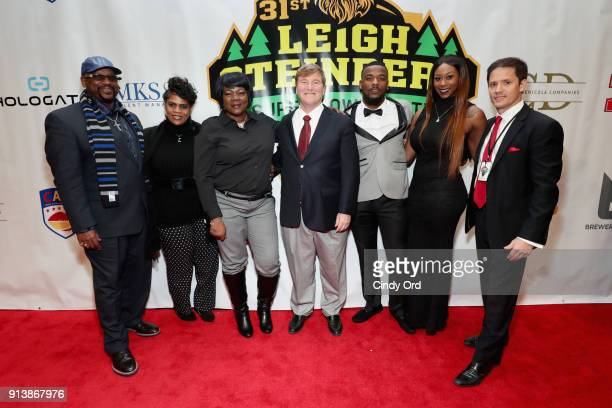 Leigh Steinberg Jeffery Wilson and Chris Cabott attend Leigh Steinberg Super Bowl Party 2018 on February 3 2018 in Minneapolis Minnesota