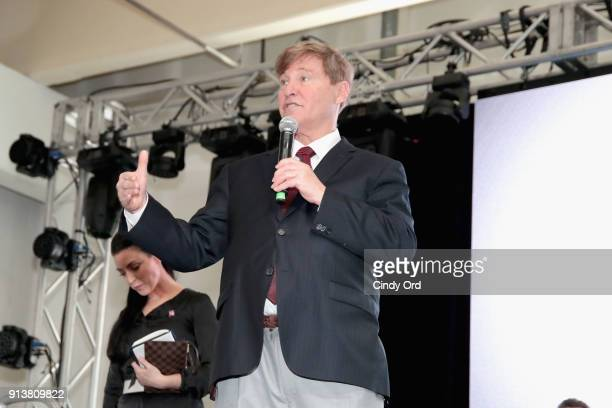 Leigh Steinberg speaks onstage during Leigh Steinberg Super Bowl Party 2018 on February 3 2018 in Minneapolis Minnesota